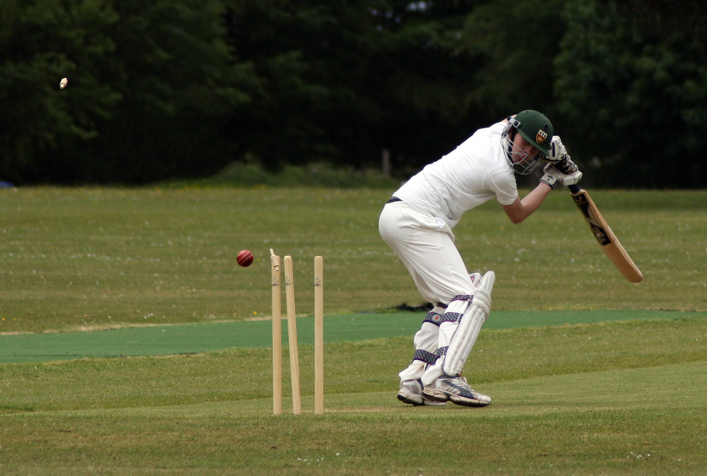 A player on a cricket tour bowled out