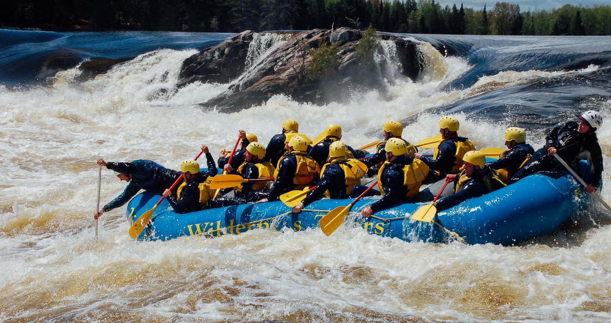 White water rafting in Ottawa is a must do when embarking on a rugby tour to Canada