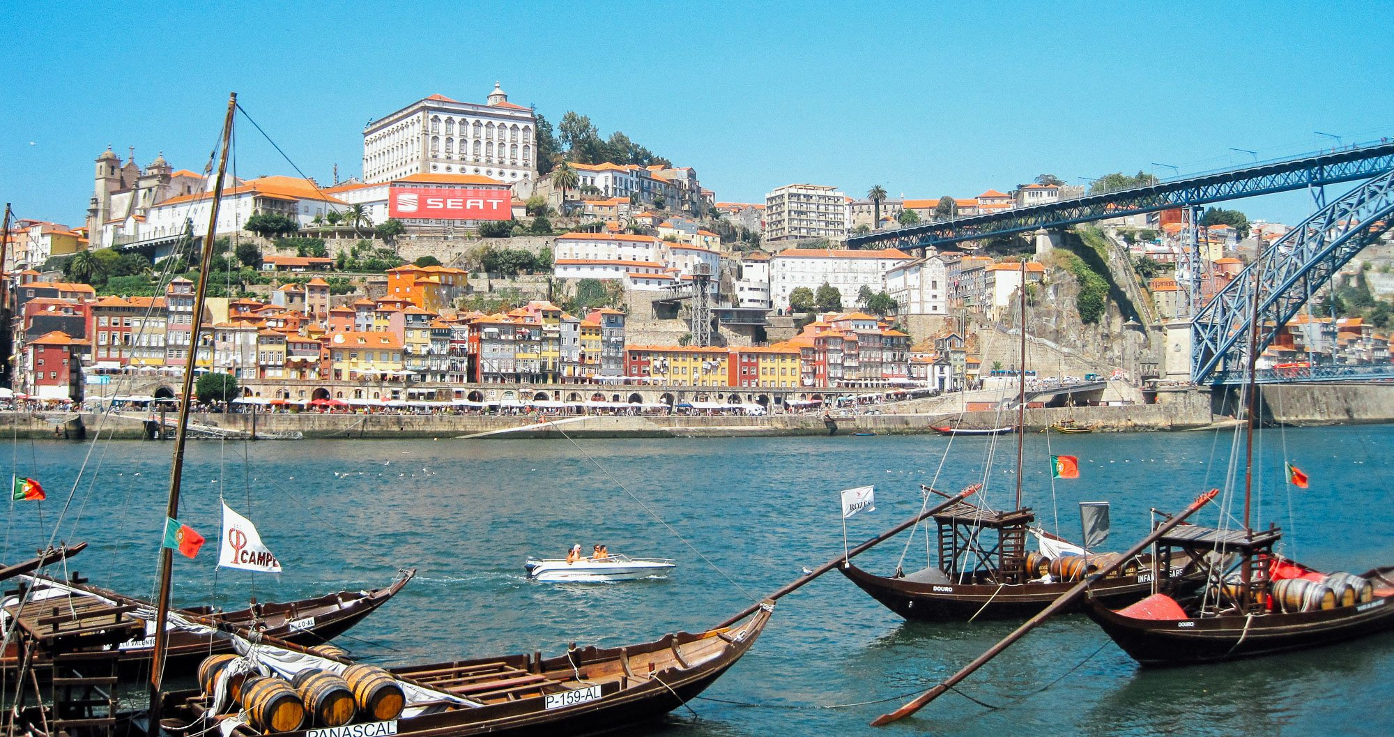 Touring teams in Lisbon enjoy a boat ride in the harbour
