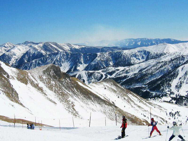 View of the slope at Sunday River ski resort