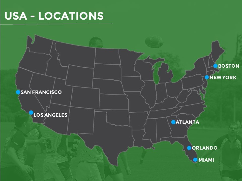 netball tours to America - tour locations
