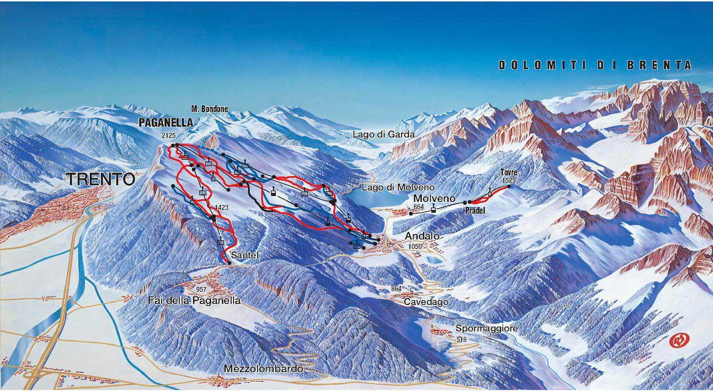 MSG Tours ski trips to Andalo Italy
