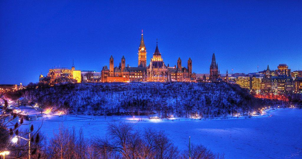 Ottawa Canada in the snow