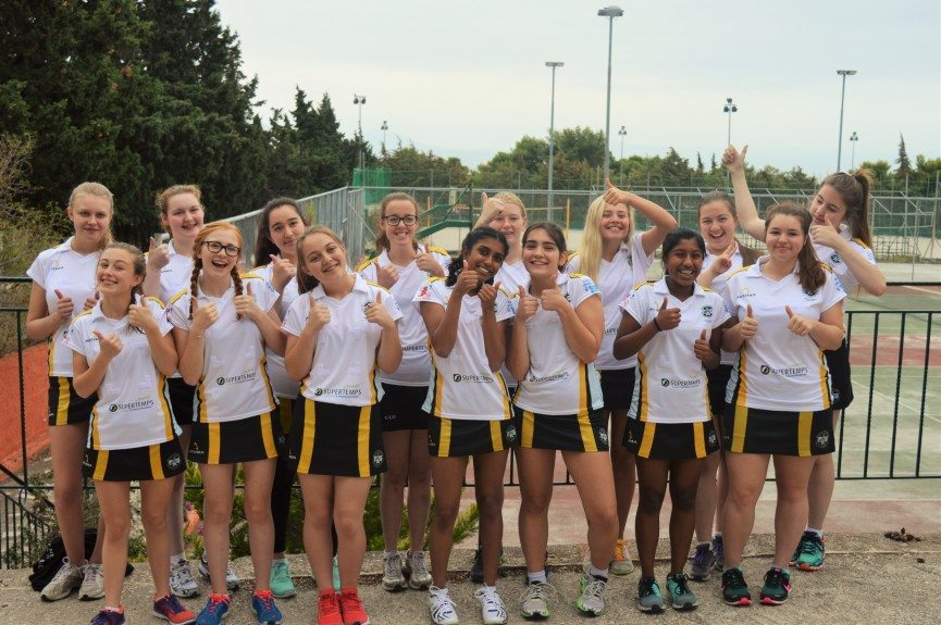 Rydal Penrhos on a School netball tour to greece