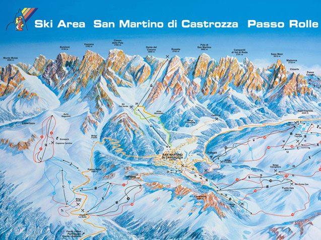 San Martino Piste Map