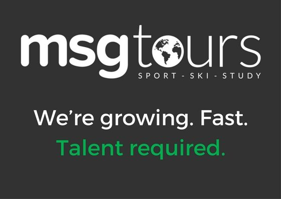 We're thirsty for talent. Marketing job available at MSG Tours