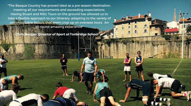 Basque Country pre-season rugby camps
