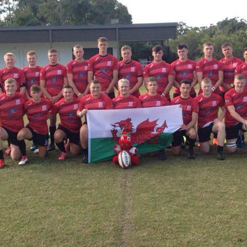 Coleg Gwent Rugby Team Group Shot in Australia