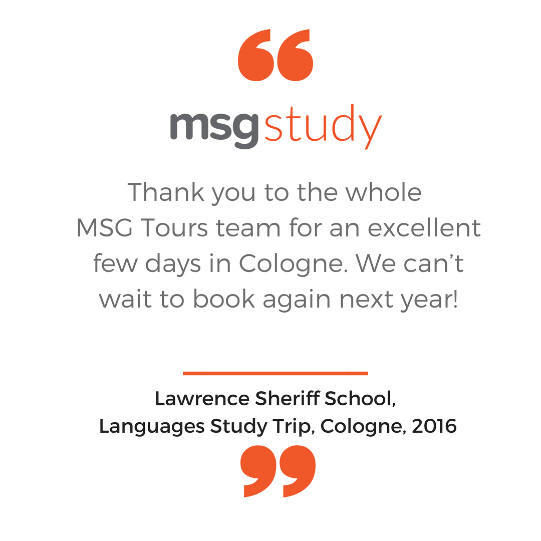 Lawrence Sheriff school 2016 cologne