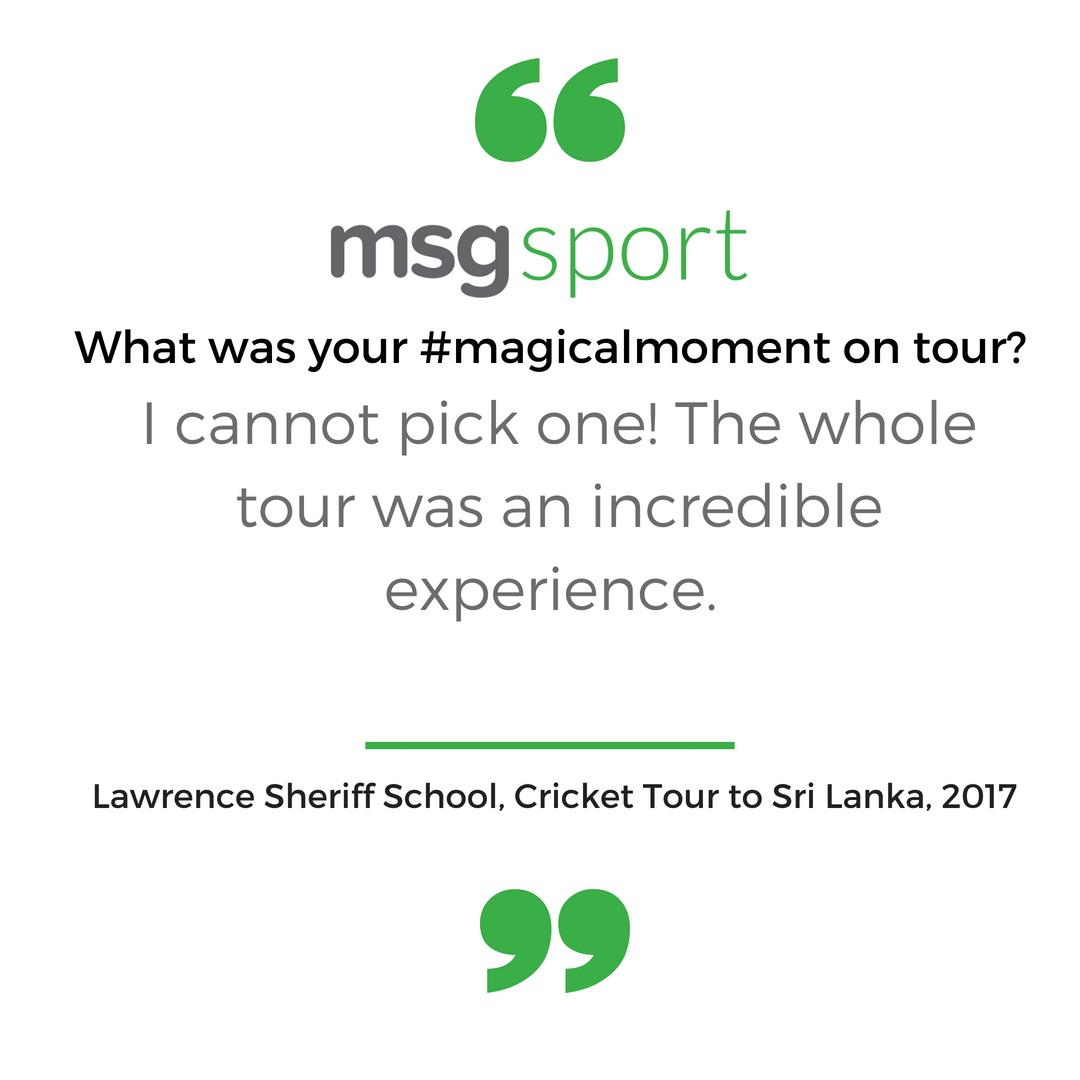 Cricket tour to Sri Lanka