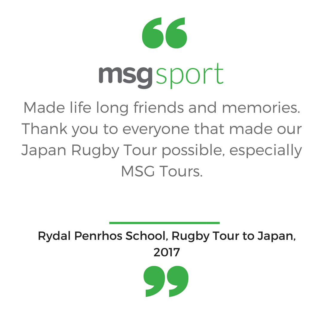 Rugby Tour to Japan