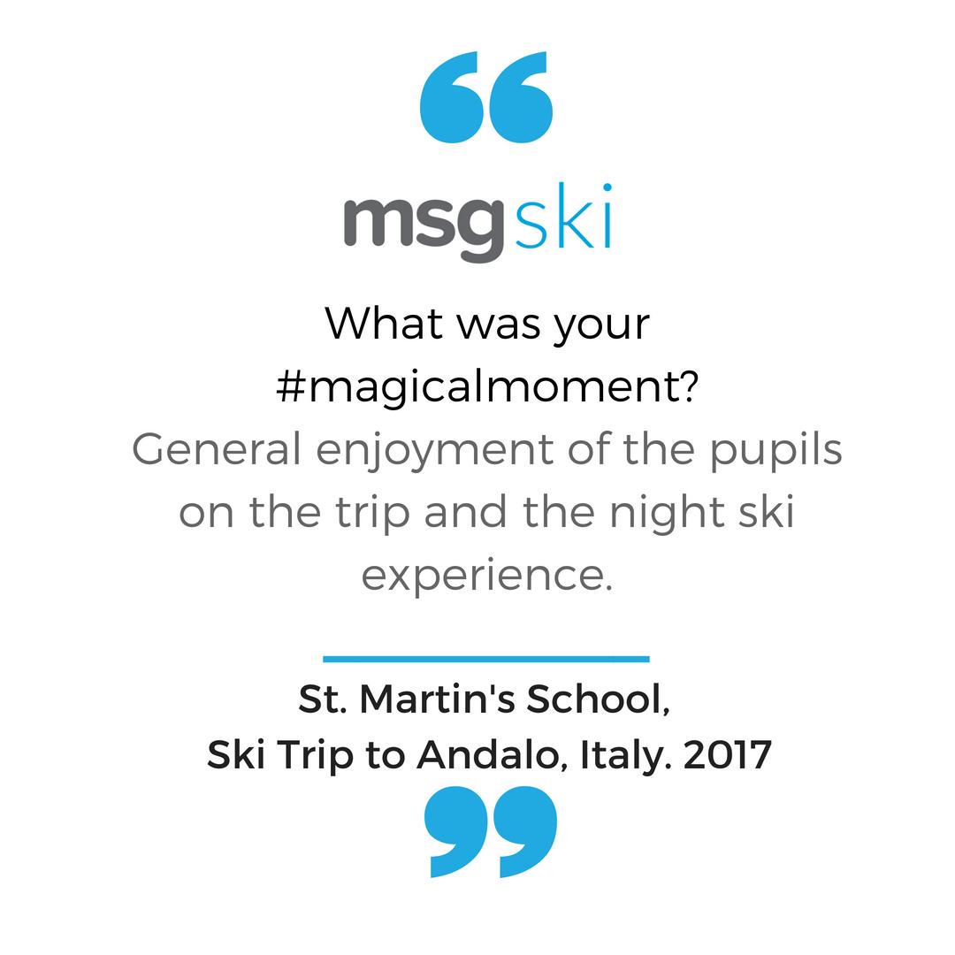 St Martins Ski Trip to Italy