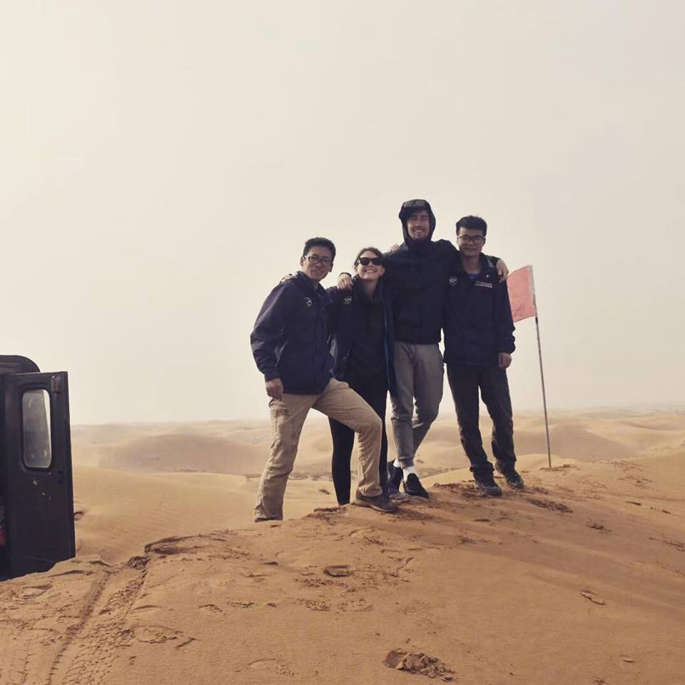 Mike and his team on tour in the deserts of Inner Mongolia