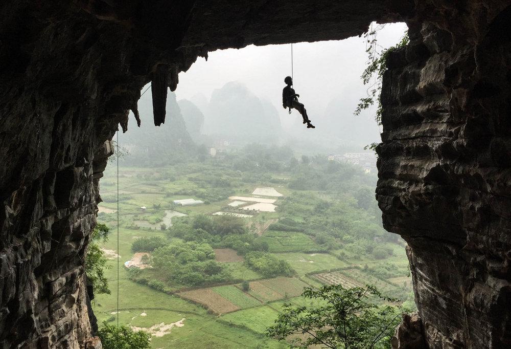 Climbers at Treasure Cave