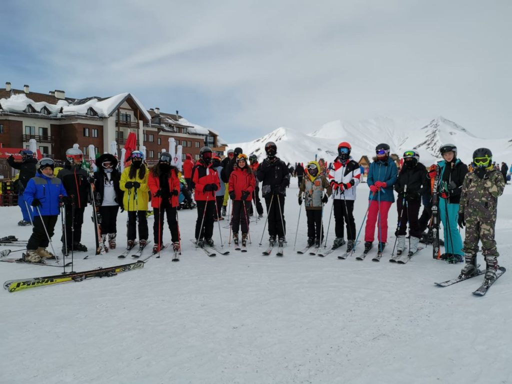 Repton Schoo enjoying the slopes of Georgia