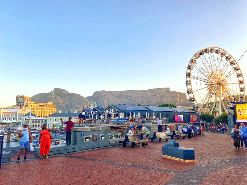 Cape Town Waterfront on the team's inspection visit to South Africa