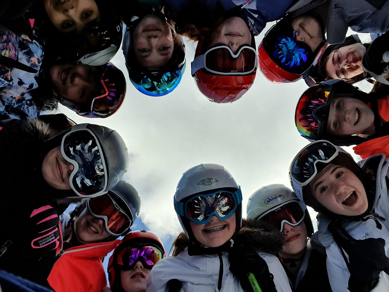 Puntey high school ski trip to Italy selfie