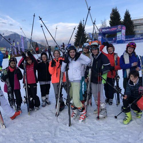 Putney High School on their ski trip to italy