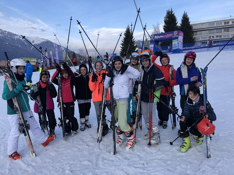 Putney High School on their ski trip to italy