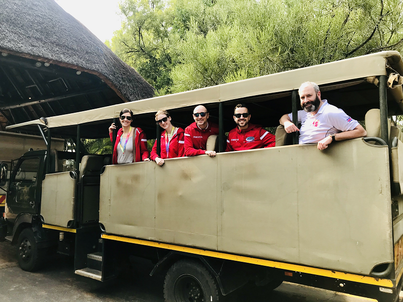 The MSG Team and partners on the safari truck on the inspection trip to South Africa