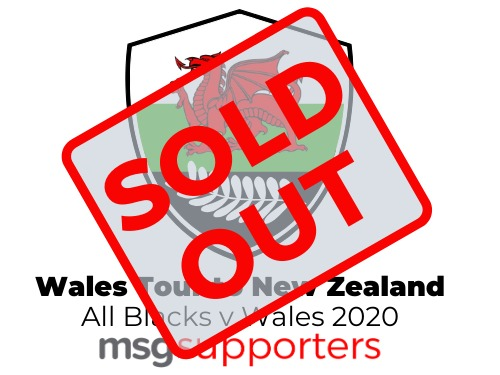 Wales New zealand tour sold out