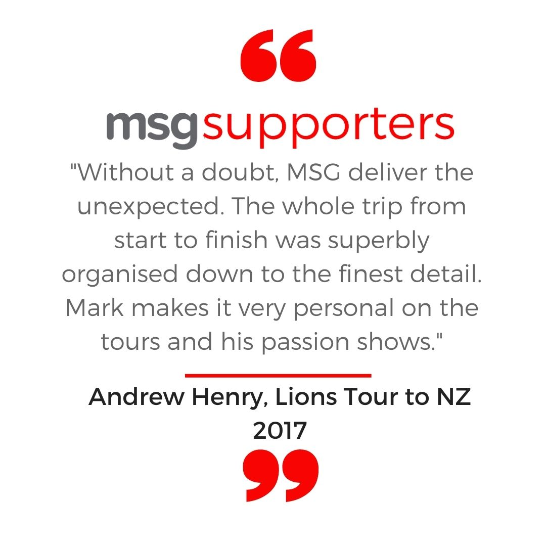 Andrew Henry testimonial from the Lions Tour to NZ in 2017