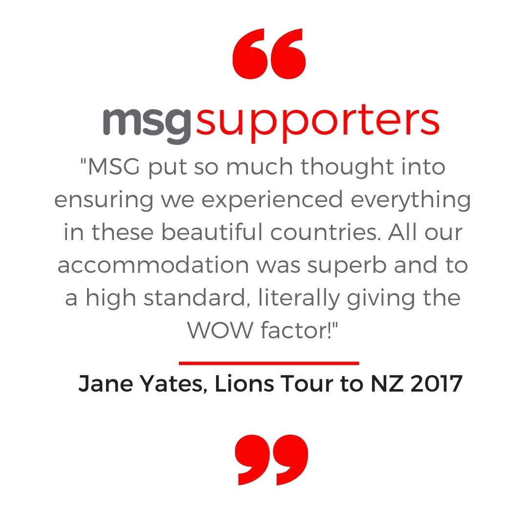 Jane Yates testimonial from the Lions Tour to NZ in 2017