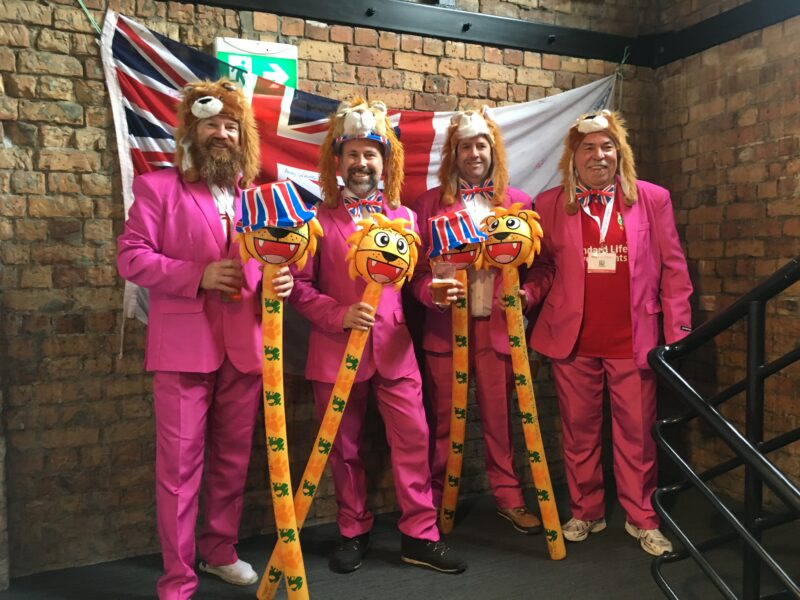lions in pink south africa 2021 supporters rugby