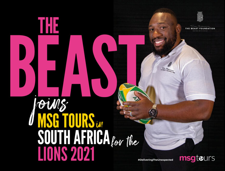 Tendai Mtawarira - The Beast joins MSG Tours in South Africa for the Lions 2021