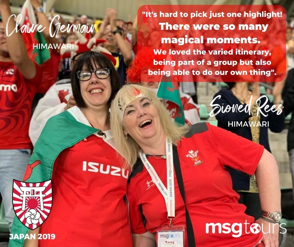 Wales Supporters at Rugby World Cup
