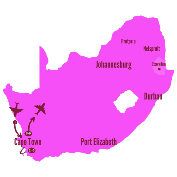 The Penguin 2nd Test Map South Africa 2021