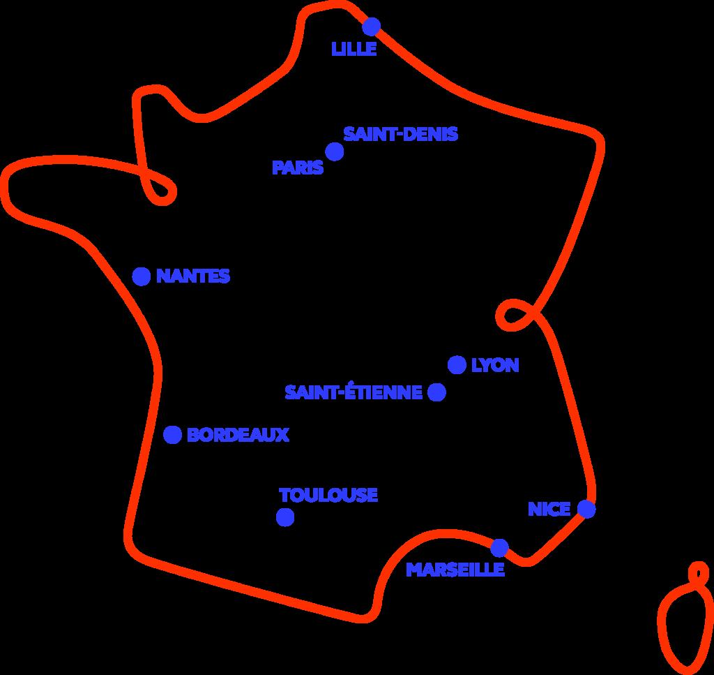 RWC 2023 Host Cities