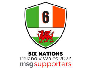 Ireland vs Wales Six Nations 2022 supporters badge