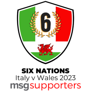 Italy v Wales 2023 Six Nations badge