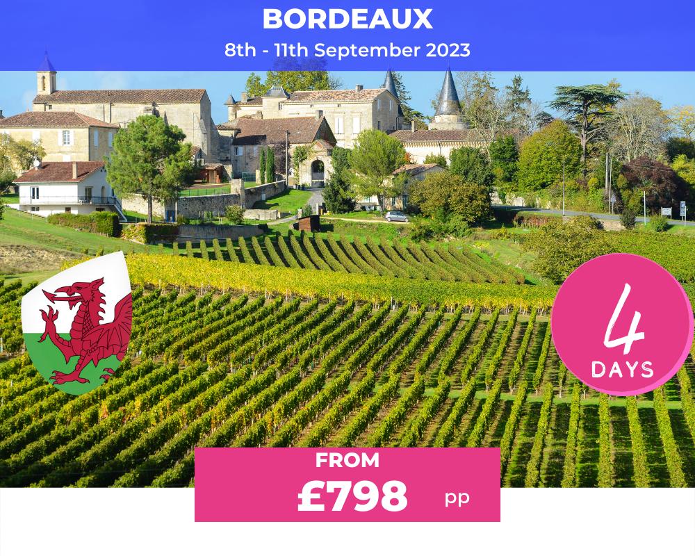 Wales Long Weekend Bordeaux RWC 2023