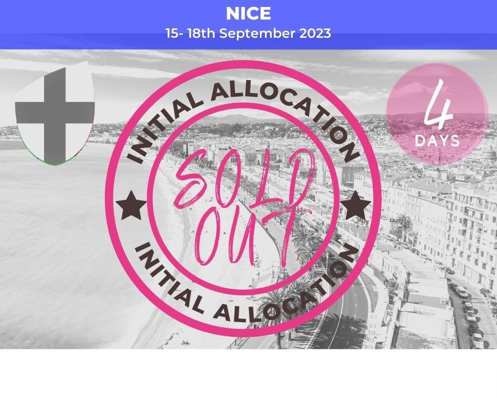 Long Weekender Nice - England RWC 2023