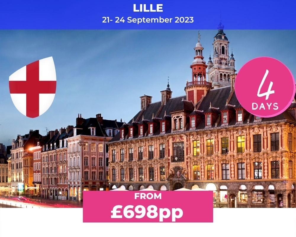 Long Weekender 3 England - Lille RWC 2023