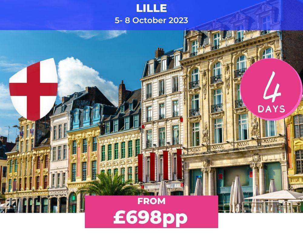 Long Weekender 4 England - Lille RWC 2023