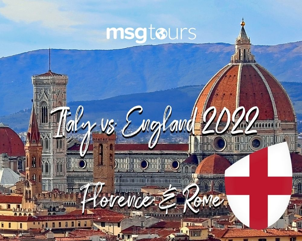 Italy v England 2022 SIx Nations package Florence and Rome