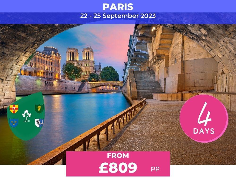 Long Weekender Ireland- Paris RWC 2023